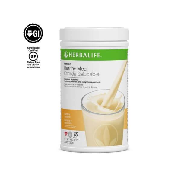 Fórmula 1 Comida Saludable Mezcla Nutricional para Batido Herbalife sabor Banana y Caramelo 750 g