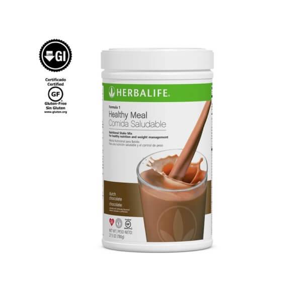 Fórmula 1 Comida Saludable Mezcla Nutricional para Batido Herbalife sabor Chocolate 750 g