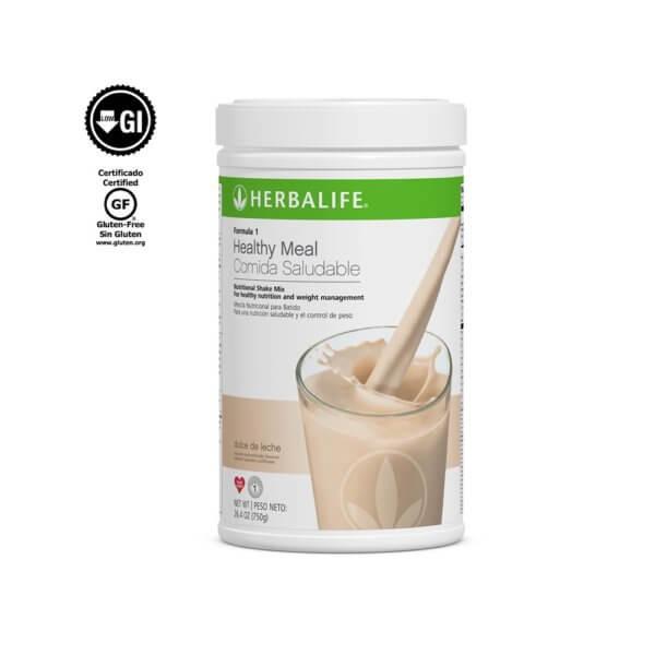 Fórmula 1 Comida Saludable Mezcla Nutricional para Batido Herbalife sabor Dulce de Leche 750 g