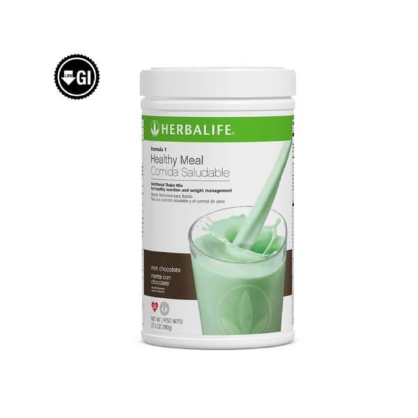 Fórmula 1 Comida Saludable Mezcla Nutricional para Batido Herbalife sabor Menta con Chocolate 780 g