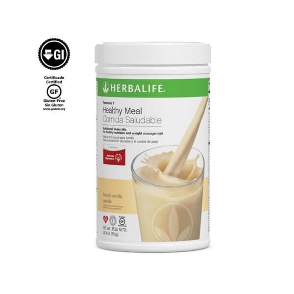 Fórmula 1 Comida Saludable Mezcla Nutricional para Batido Herbalife sabor Vainilla 750 g