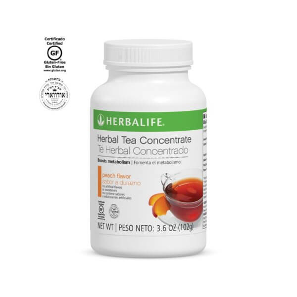 Té Herbal Concentrado Herbalife sabor Durazno 3.6 OZ