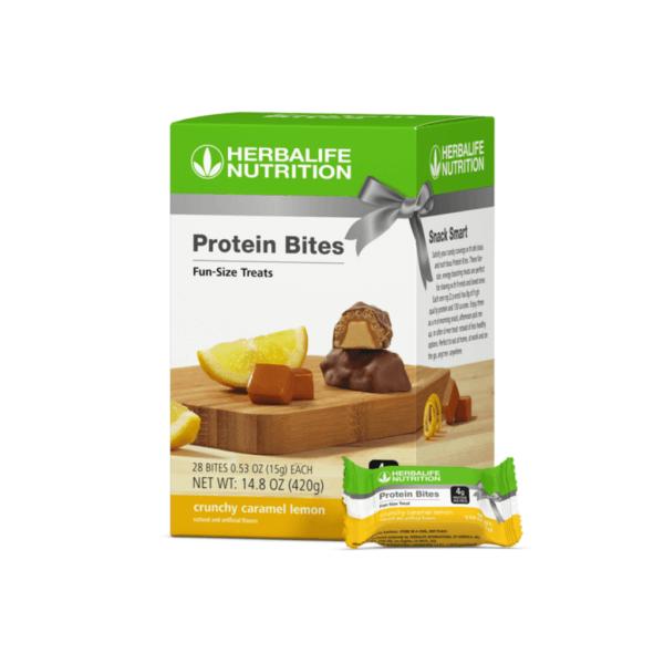 Bocaditos de Proteína Herbalife sabor Limón y Caramelo Crujiente