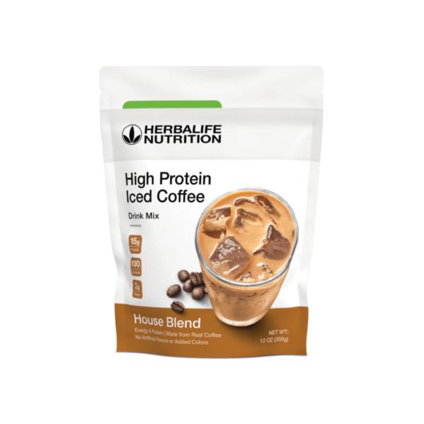 Café Helado Alto en Proteínas Herbalife sabor House Blend